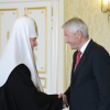 His Holiness Patriarch Kirill meets with Mr. Thorbjørn Jagland, Secretary General of the Council of Europe