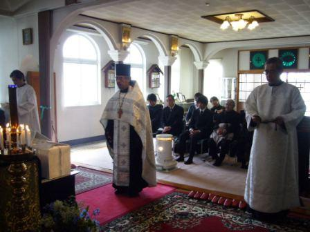 Panichida for the victimes at Holy Ascension Church in Sakari