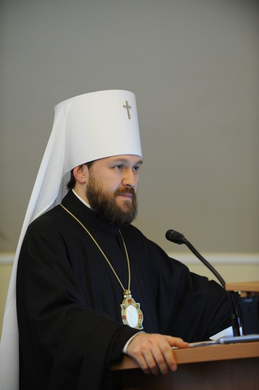 "Metropolitan Hilarion of Volokolamsk: ""Today Christians of various confessions should unite around the very simple common human values"""