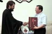 Metropolitan Hilarion visits Beijing's Catholic Seminary