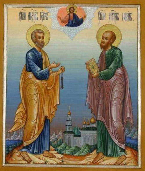 Image result for holy apostles peter and paul