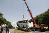 Ukraine bus crash kills 14 Russian pilgrims