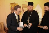 UN Secretary General Ban Ki-Moon visits Decani Monastery and Cathedral church of St. George in Prizren