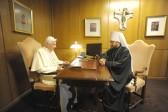 Metropolitan Hilarion of Volokolamsk Meets with Pope Benedict XVI