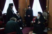 His Beatitude Patriarch Theophilos III Receives the Clergymen of the Russian Ecclesiastical Mission in Jerusalem