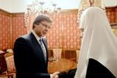 Patriarch Kirill Meets with Mayor of Riga Nil Ushakov
