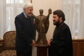 Metropolitan Hilarion of Volokolamsk Meets with Ambassador of France to Russia
