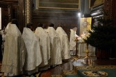 Primate of Russian Church celebrates Divine Liturgy at the Cathedral of Christ the Saviour on Christmas Eve