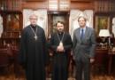 Metropolitan Hilarion receives a delegation of the University of Eastern Finland