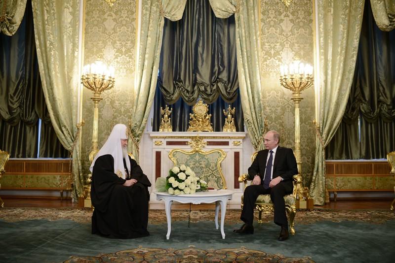 Putin has congratulated Patriarch Kirill