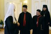 His Holiness Patriarch Kirill meets with Maronite Patriarch Béchara Boutros Al-Raï