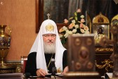 The Holy Synod of the Russian Orthodox Church meets in session chaired by Patriarch Kirill