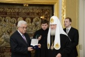 Patriarch Kirill meets with Palestine's President Mahmoud Abbas
