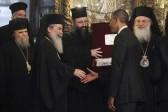 Obama lights candles, prays at Bethlehem's Church of Nativity compound