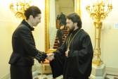 Metropolitan Hilarion of Volokolamsk makes a visit to residence of Austrian ambassador in Moscow
