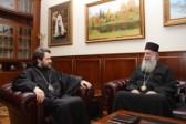 Metropolitan Hilarion of Volokolamsk meets with Metropolitan Gerasim of Zugdidi and Tsaishi
