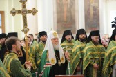 On Forgiveness Sunday Patriarch Kirill celebrates Divine Liturgy at St. Daniel's Monastery