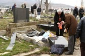 Serbs visit desecrated cemetery in southern K. Mitrovica