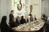 His Holiness Patriarch Kirill attend Sunday of Orthodoxy reception given by the Ambassador of Greece