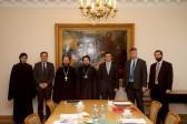 Metropolitan Hilarion receives delegation of University of Leuven