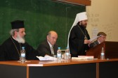 Metropolitan Hilarion delivers a lecture at University of Thessaloniki