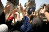 Raising aid to suffering Syrian people continues