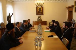 Metropolitan Hilarion meets with Bulgaria's ex-president…