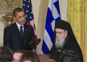 Barack Obama and Archbishop Demetrios, 2011
