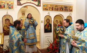 Bishop Nestor of Chersonese leads patronal…
