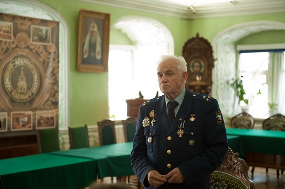 Colonel Valentin Petrov at the Moscow Theological Academy