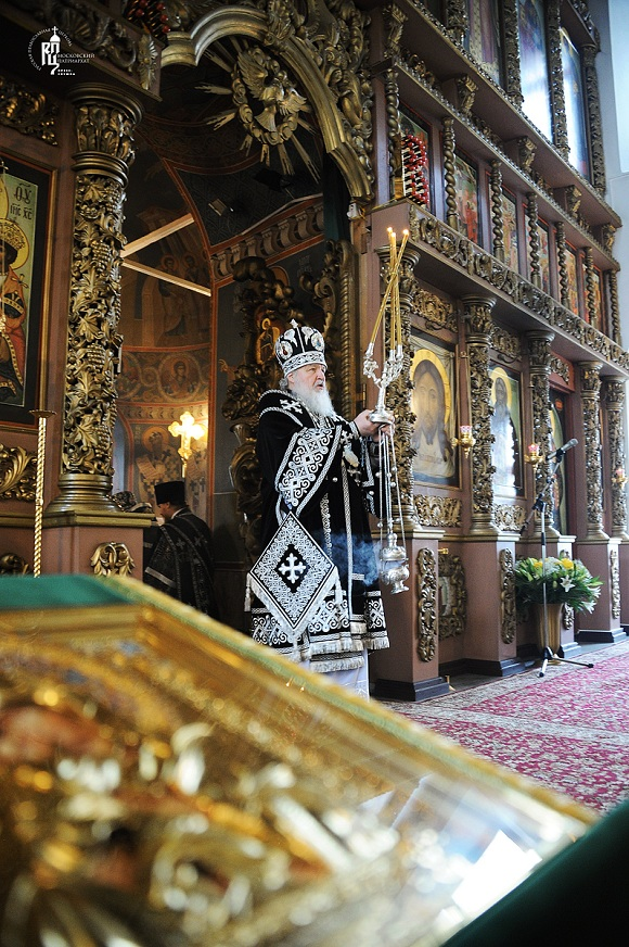 Patriarch Kirill Celebrating the Liturgy of the Presanctified Gifts