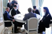 President Vladimir Putin meets His Beatitude Patriarch Theophilos and His Holiness Patriarch Kirill