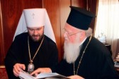 Metropolitan Hilarion of Volokolamsk meets with His Holiness Patriarch Bartholomew of Constantinople