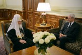 His Holiness Patriarch Kirill receives President of the Democratic Party of Serbia