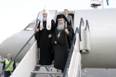 His Beatitude Patriarch Theophilos and His Holiness Patriarch Kirill arrive in St. Petersburg