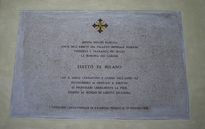 the edict of milan The edict of milan (edictum mediolanensium) was a letter signed by emperors constantine i and licinius that proclaimed religious toleration in the roman empire the letter was issued in 313 ad, shortly after the conclusion of the diocletianic persecution.
