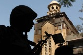 Clashes between Muslims and Christians leave one dead and dozens injured in Egyptian city of Alexandria