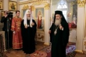 His Beatitude Patriarch Theophilos and His Holiness Patriarch Kirill visit historical building of the Synod in St. Petersburg