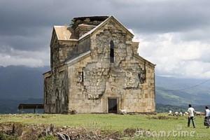 Ancient orthodox church in Abkhazia