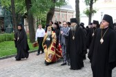 Primate of Orthodox Church of Jerusalem visits Laura of the Holy Trinity and St. Sergius