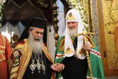On the Day of Sts Cyril and Methodius, Primates of the Church of Jerusalem and the Russian Orthodox Church celebrate Divine Liturgy in the Kremlin Church of the Assumption