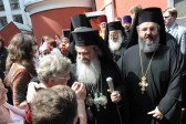 Patriarch Theophilos of Jerusalem visits Moscow representation of the Orthodox Church of Jerusalem