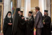 Patriarch Theophilos of Jerusalem visits holy places in St. Petersburg