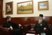 Metropolitan Hilarion meets with Metropolitan Amfilohije of Montenegro and the Coastlands