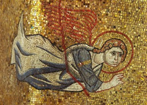 Mosaic detail of angel from the Basilica di San Marco, Venice