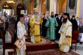 On the Monday of the Holy Spirit, Patriarch Theophilos of Jerusalem celebrates Divine Liturgy at Trinity Cathedral of Russian Ecclesiastical Mission