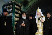 Patriarch Kirill says prayer for the dead at the Russian Monastery of St. Panteleimon on Mount Athos