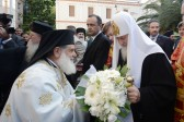 Primate of the Russian Church celebrates prayer service at the Cathedral of St. Gregory Palamas in Thessaloniki