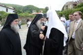 Patriarch Kirill arrives on Mount Athos