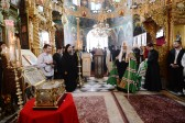 Patriarch Kirill venerates shrines of the Russian Monastery of St. Panteleimon on Mount Athos